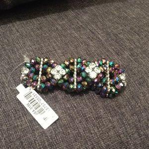Diamond Cut Bead Stretch Cuff